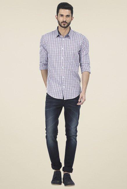Basics Purple Checkered Shirt