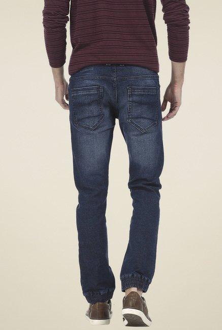 Basics Navy Low Rise Skinny Fit  Jeans