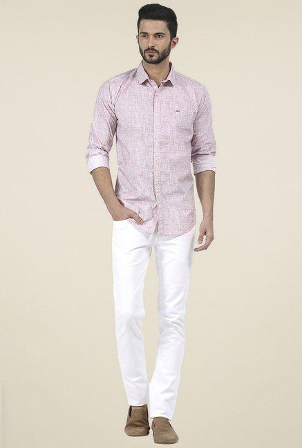 Basics Pink Printed Shirt
