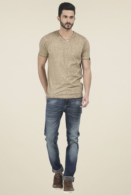 Basics Brown Half Sleeves T-Shirt