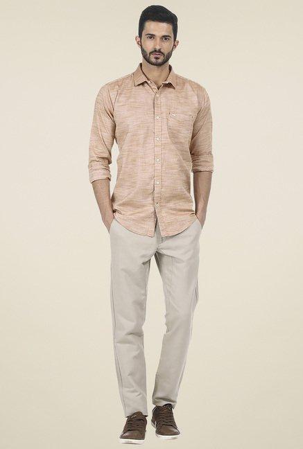 Basics Khaki Slim Fit Shirt