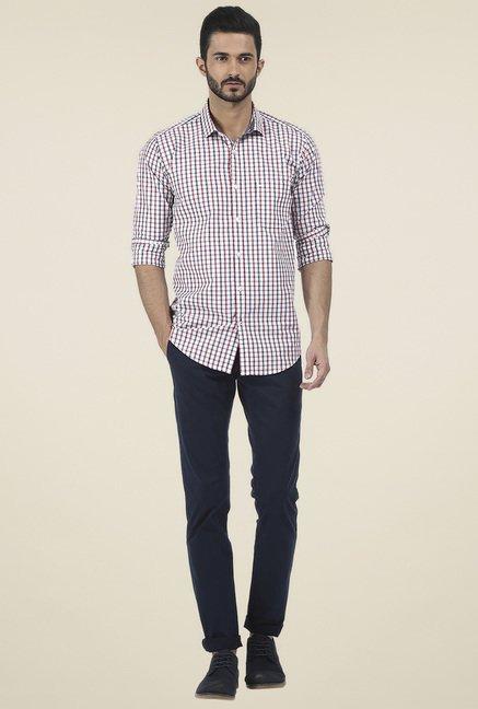 Basics White Full Sleeves Cotton Shirt
