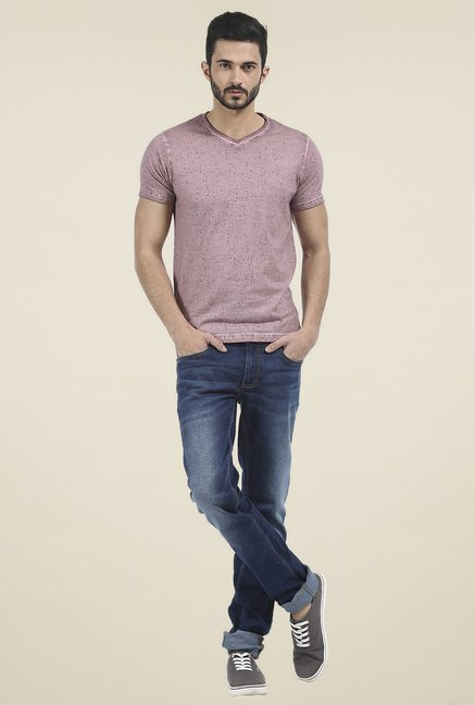 Basics Pink Half Sleeves T-Shirt