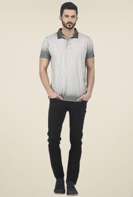 Basics Grey Half Sleeves Polo T-Shirt