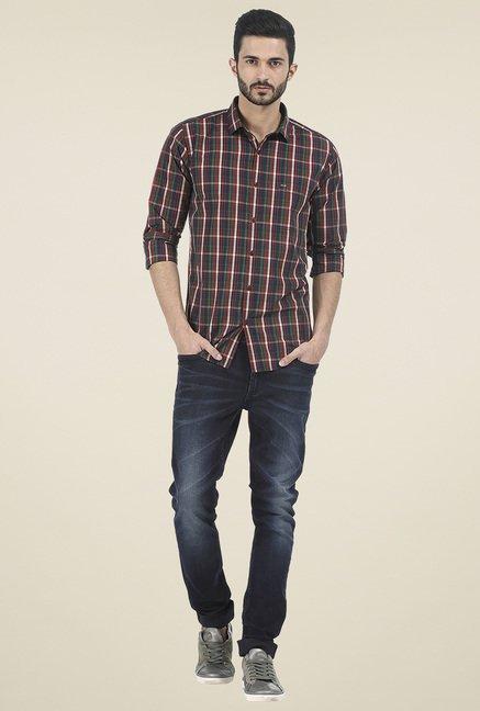 Basics Red Checked Shirt
