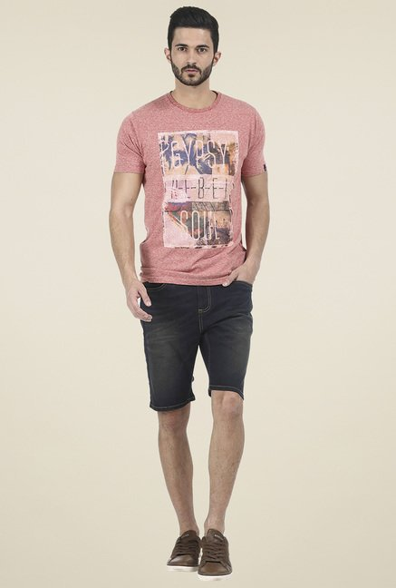 Basics Mauve Crew Neck T Shirt