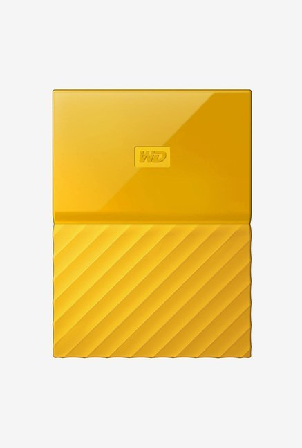 WD My Passport 1 TB Wired External Hard Disk Drive Yellow
