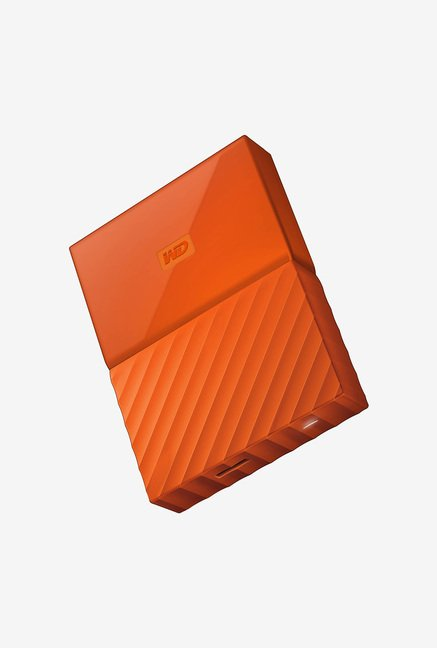 WD My Passport 2 TB Wired External Hard Disk Drive, Orange