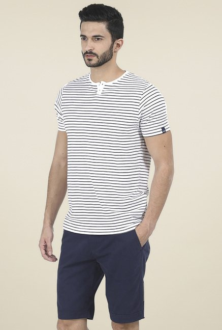 Basics White Slim Fit T-Shirt