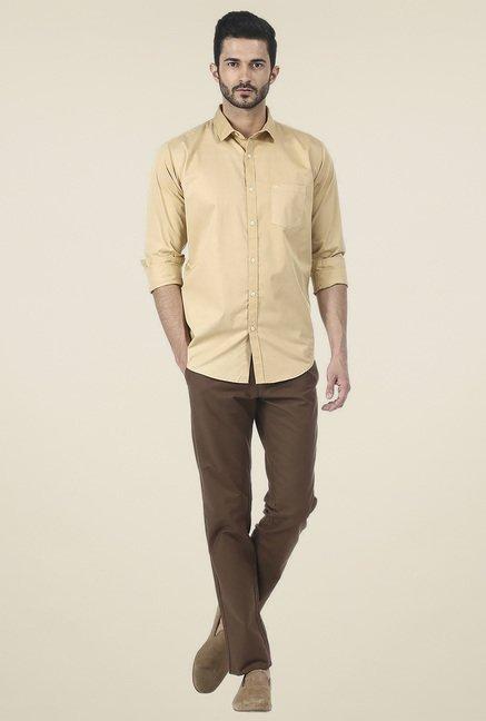 Basics Khaki Full Sleeves Shirt