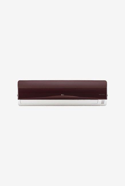 LG JS-Q12NRXA 1 Ton 3 Star Inverter Split AC (Maroon/White)