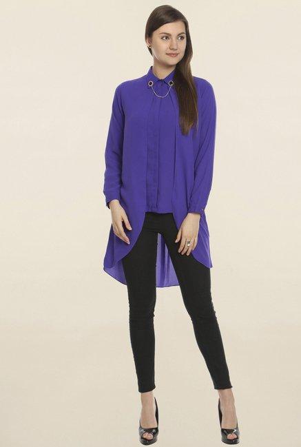 Soie Purple Solid Tunic