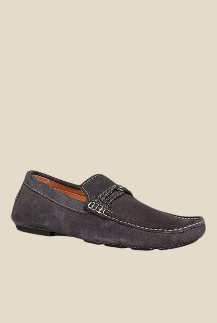 4d2d69194e6ef Buy Bata Weave Driver Dark Grey Loafers for Men at Best Price ...