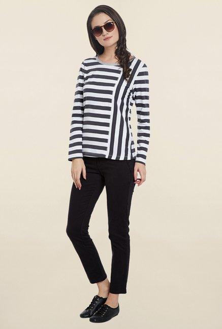 Cherymoya White Striped T Shirt