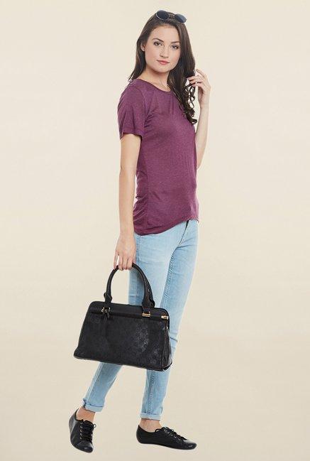 Cherymoya Purple Textured T Shirt