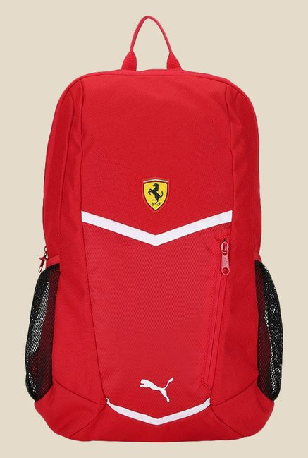 8f3ec84986 Buy Puma Ferrari Fanwear Red Textured Backpack For Men At Best Price   Tata  CLiQ