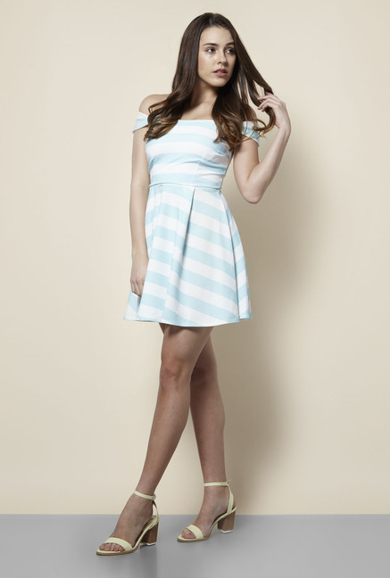 New Look Blue & White Striped Dress