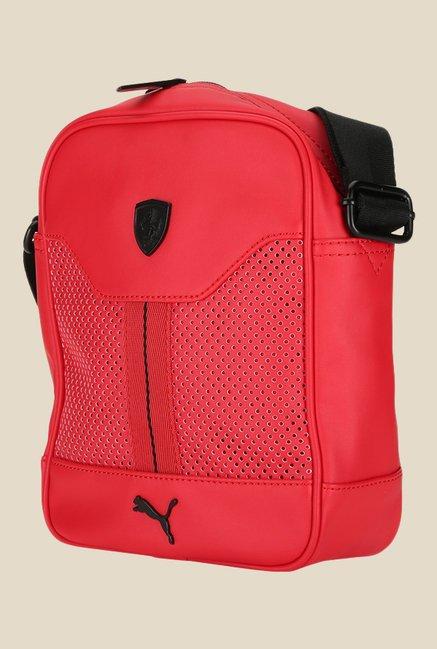 3add448c4417 Buy Puma Ferrari LS Red Textured Sling Bag For Women At Best Price ...