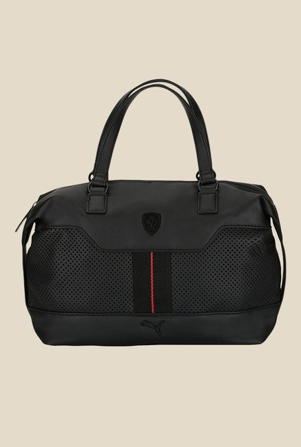 ceb4f76f0b34 Buy Puma Ferrari LS Black Duffle Bag For Women At Best Price   Tata CLiQ