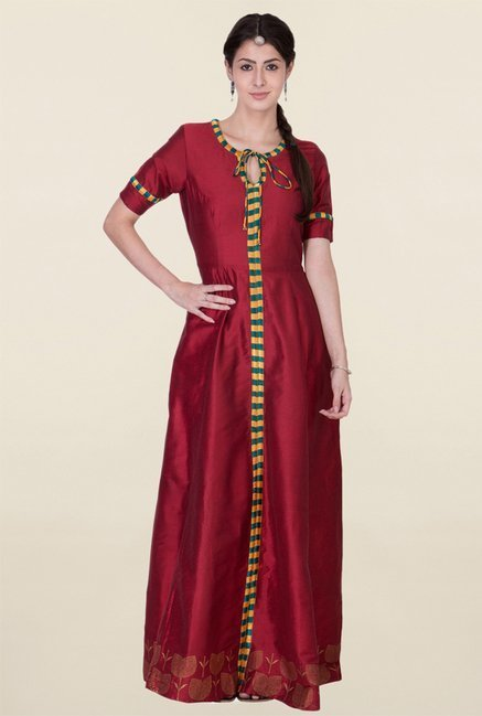 ANS Maroon Maxi Dress