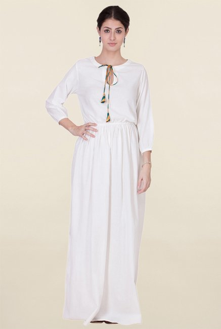 ANS White Maxi Dress