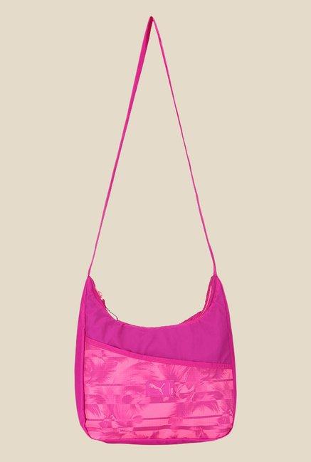 Buy Puma Studio Pink Printed Hobo Sling Bag For Women At Best Price   Tata  CLiQ bf98f88aa77ce