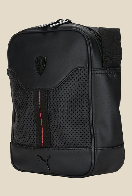 857277da6a Buy Puma Ferrari LS Black Textured Sling Bag For Women At Best Price ...