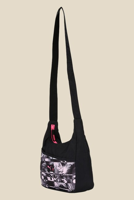 Buy Puma Studio Black Printed Hobo Sling Bag For Women At Best Price ... 162a8f7a836a4