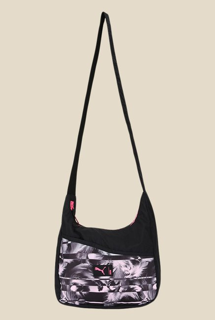 cab7b69d16 Buy Puma Studio Black Printed Hobo Sling Bag For Women At Best Price @ Tata  CLiQ