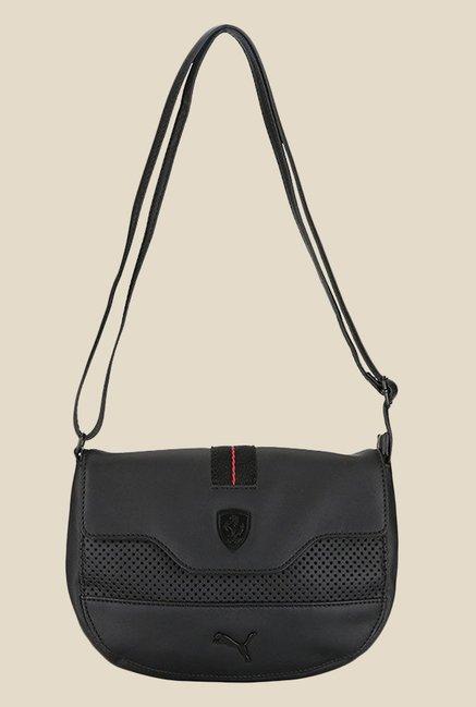 f7440da928ae Buy Puma Ferrari LS Black Textured Sling Bag For Women At Best Price   Tata  CLiQ