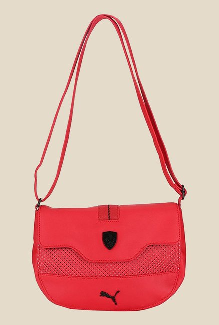 Buy Puma Ferrari LS Red Textured Sling Bag For Women At Best Price   Tata  CLiQ 43935368a524a