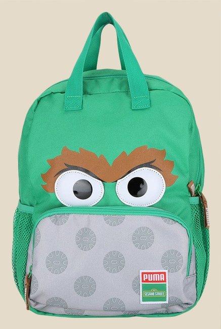 c16e197bdd8fb6 Buy Puma Sesame Street Green Printed Backpack Online At Best Price   Tata  CLiQ