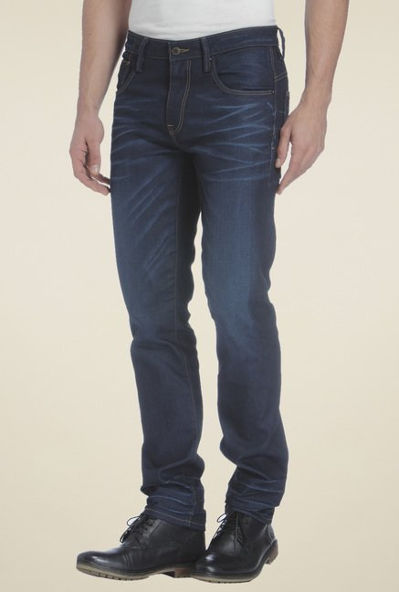 Jack & Jones Dark Blue Low Rise Jeans