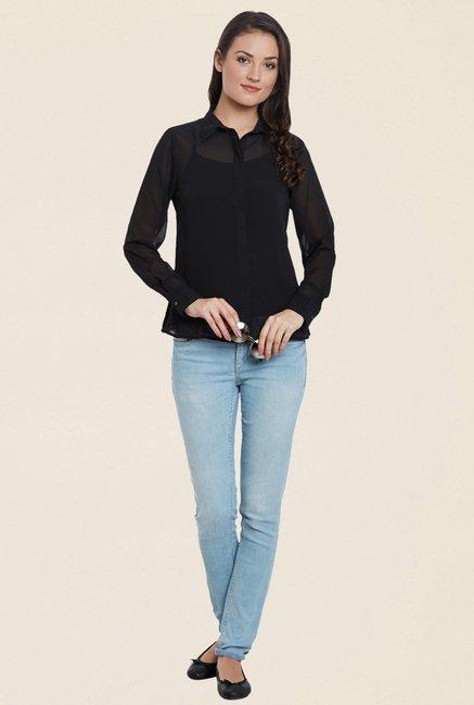 Cherymoya Black Solid Shirt