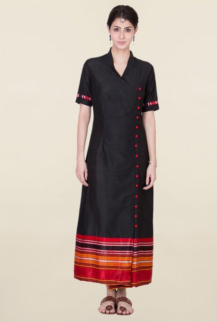 ANS Black Maxi Dress