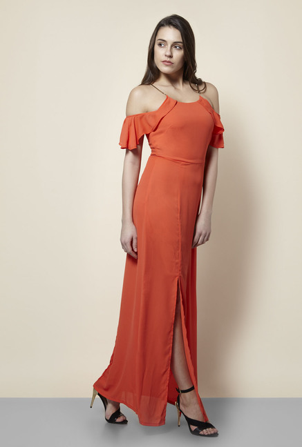 New Look Orange Maxi Dress