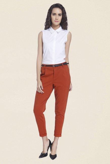Vero Moda Rust Solid Trouser