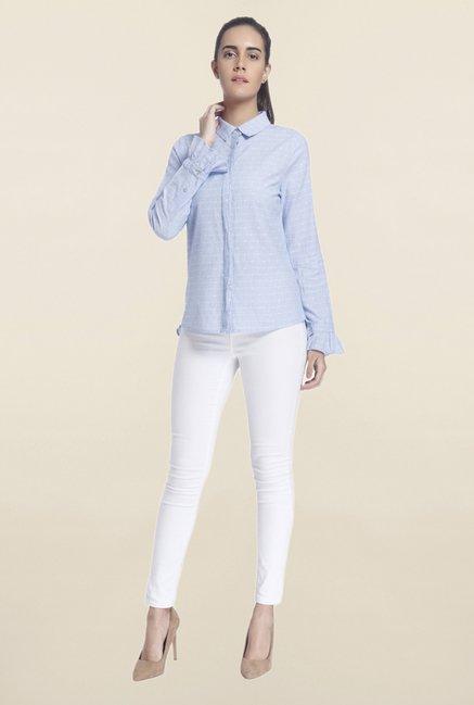 Vero Moda Blue Printed Shirt