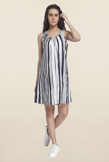 Vero Moda White Striped Dress