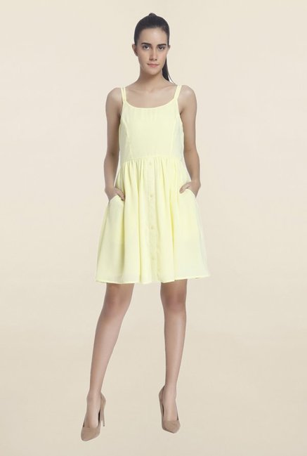 Vero Moda Yellow Sleeveless Dress