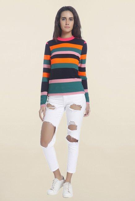 the latest 6cb8c 595aa Buy Vero Moda Multicolor Striped Top for Women Online @ Tata CLiQ