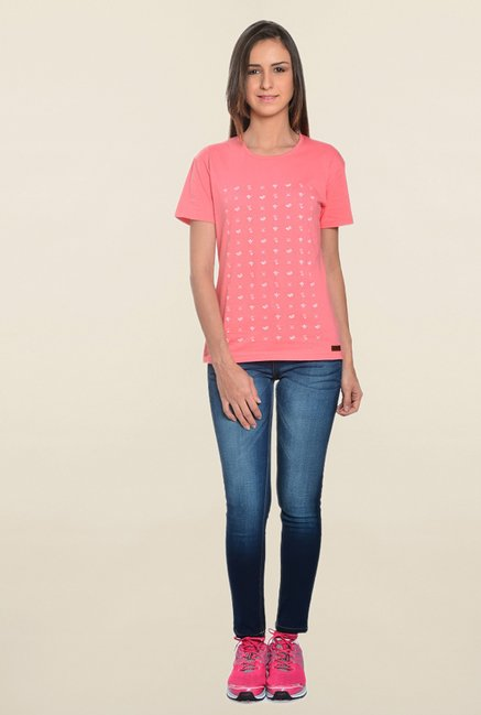 Zeven Tribe Coral Printed T Shirt