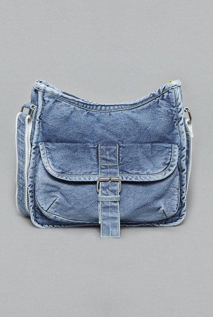 Buy Westside Blue Denim Cross Body Sling Bag for Women Online ...