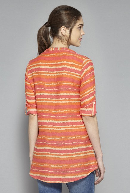 Utsa by Westside Orange Printed Kurti