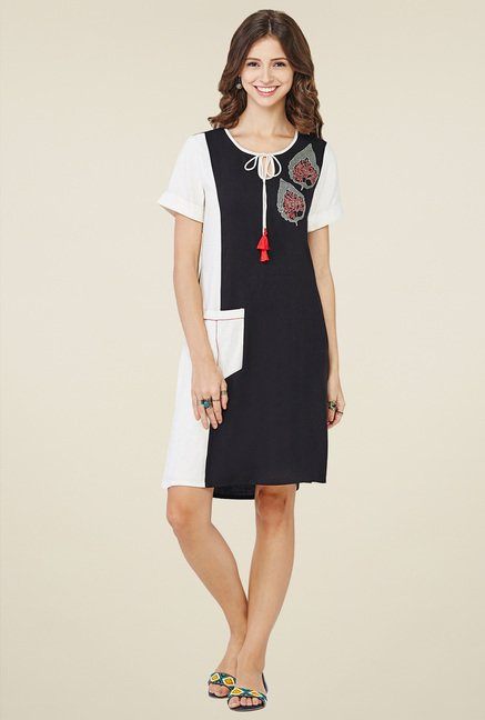 Global Desi Black Shift Dress