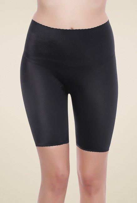 Zivame Black High Rise Shorts