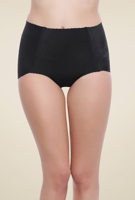 Zivame Black Mid Rise Cotton Briefs