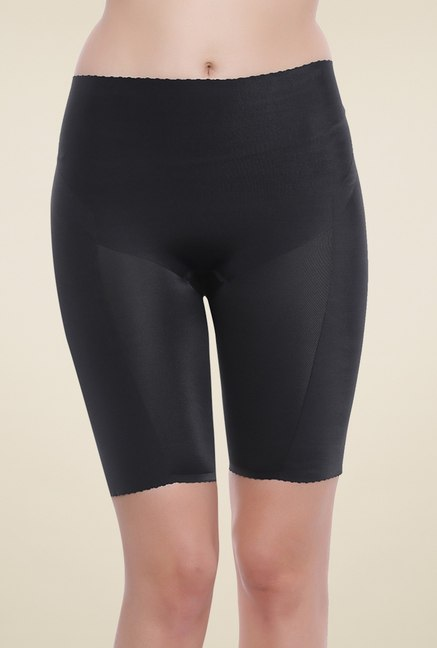 Zivame Black Mid Rise Shorts