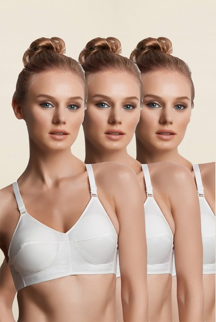 Libertina White Pearl Padded Bra (Pack Of 3)
