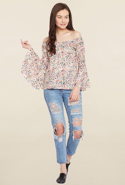MEEE Multicolor Floral Print Top